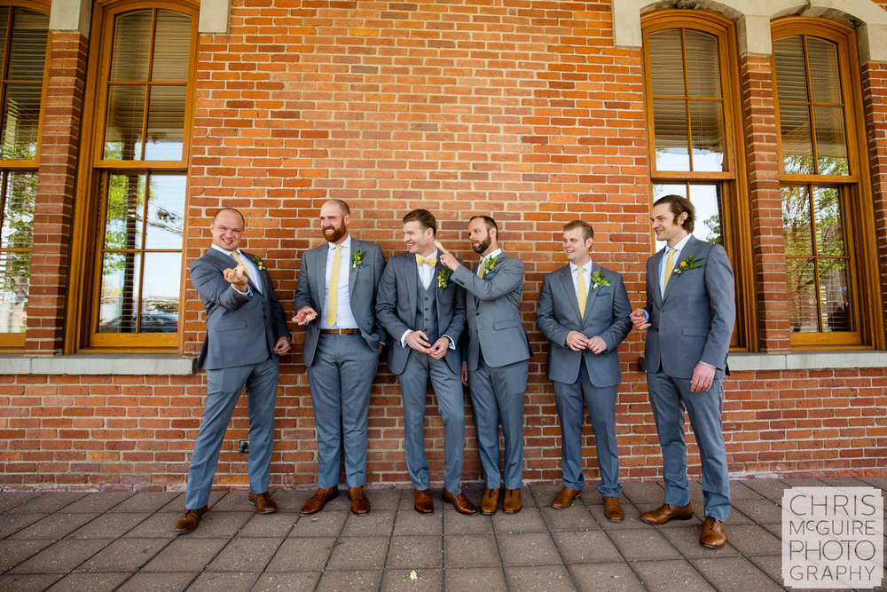 groomsmen acting weird