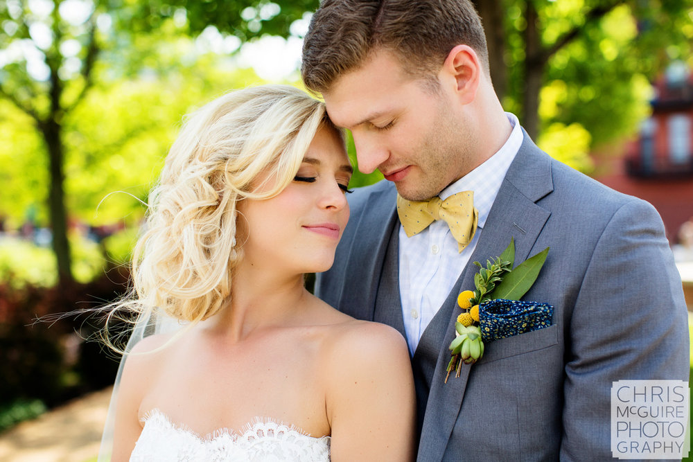 bride groom intimate portrait