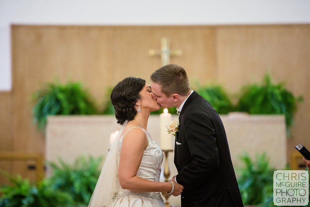 first kiss central illinois wedding photographer