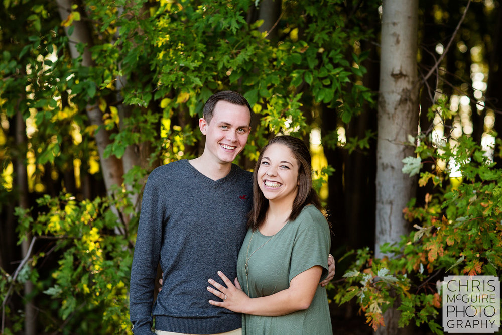 engagement portrait with trees