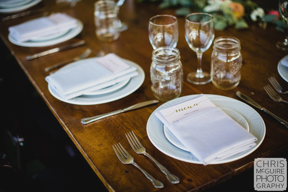 Central Illinois Wedding Photographer table setting