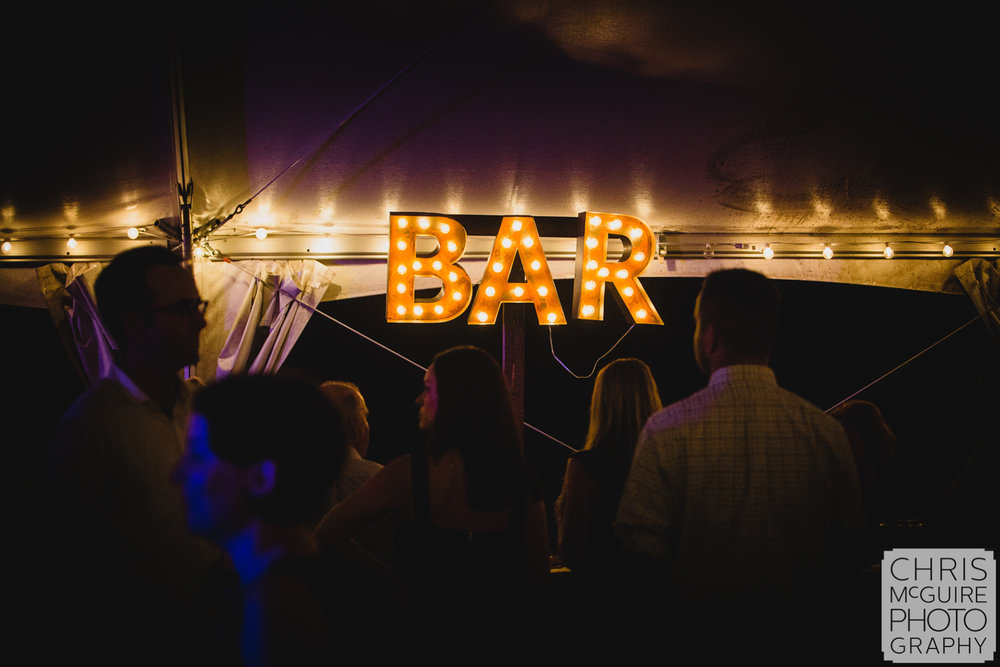 bar sign at private event