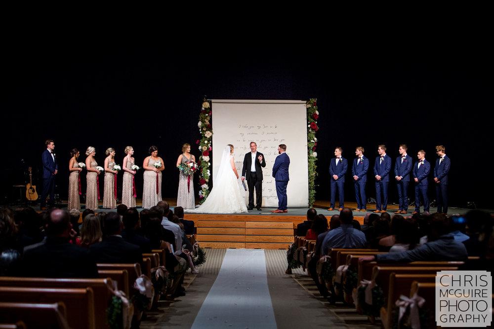 indoor wedding on stage