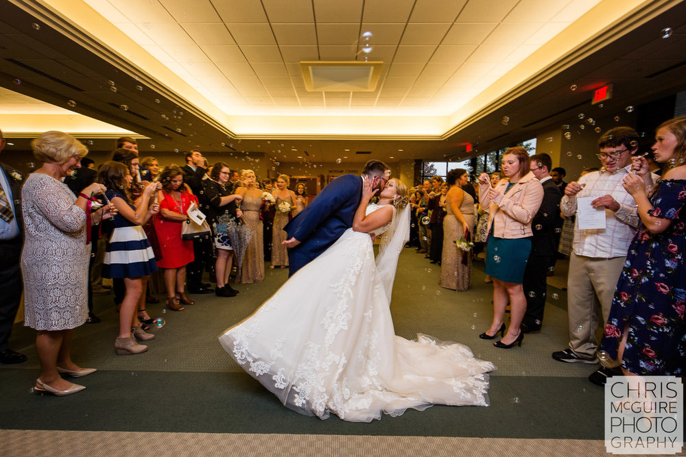 wedding bubbles indoors