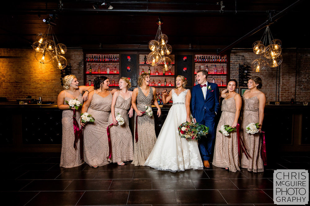 bride and bridesmaids bridesman