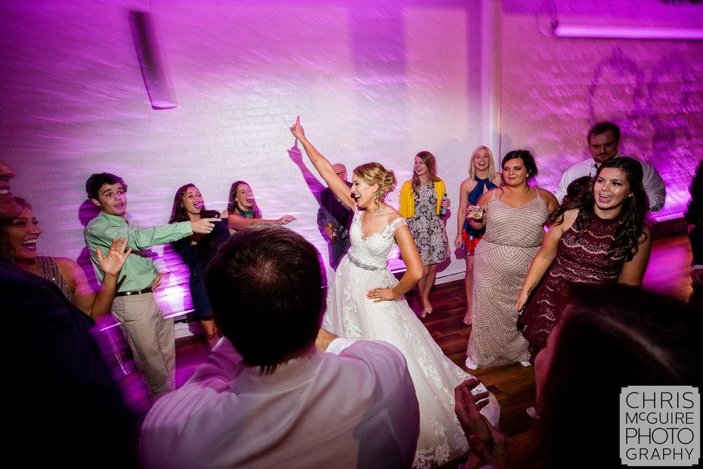 bride dancing at wedding reception peoria