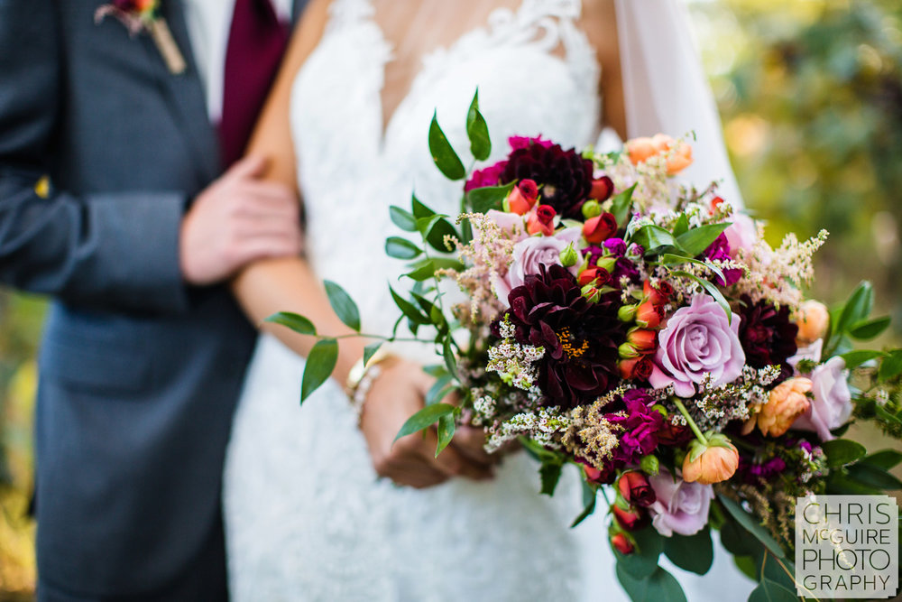 bridal bouquet purple