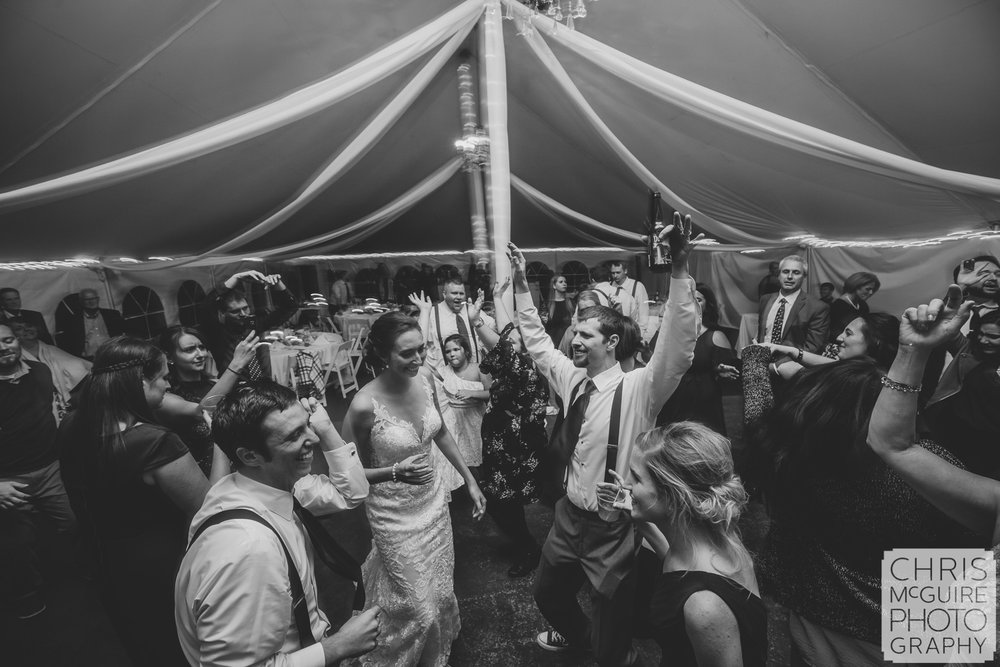 Central Illinois Wedding Photographer tent reception