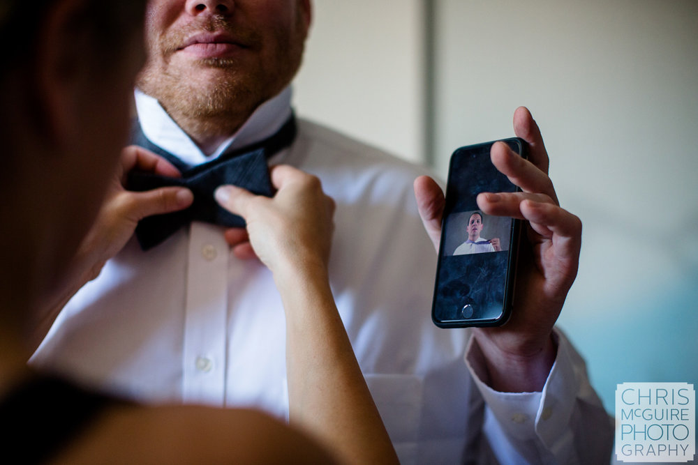 groomsmen with youtube bowtie instruction