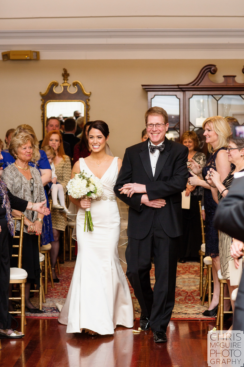 Central Illinois Wedding Photographer bride with father