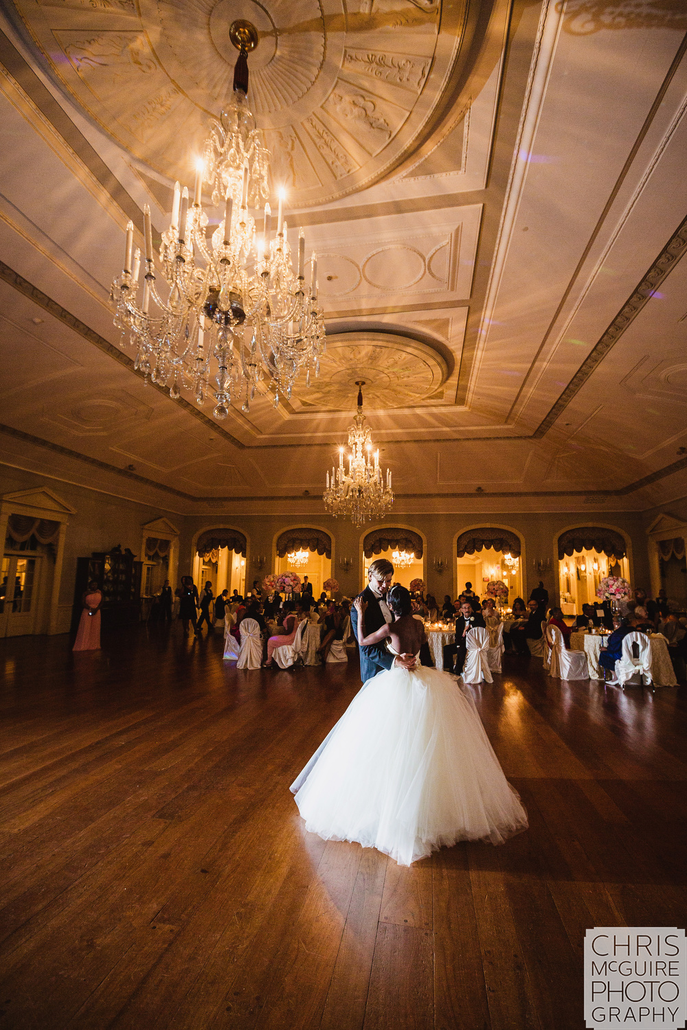 first dance ballroom wedding