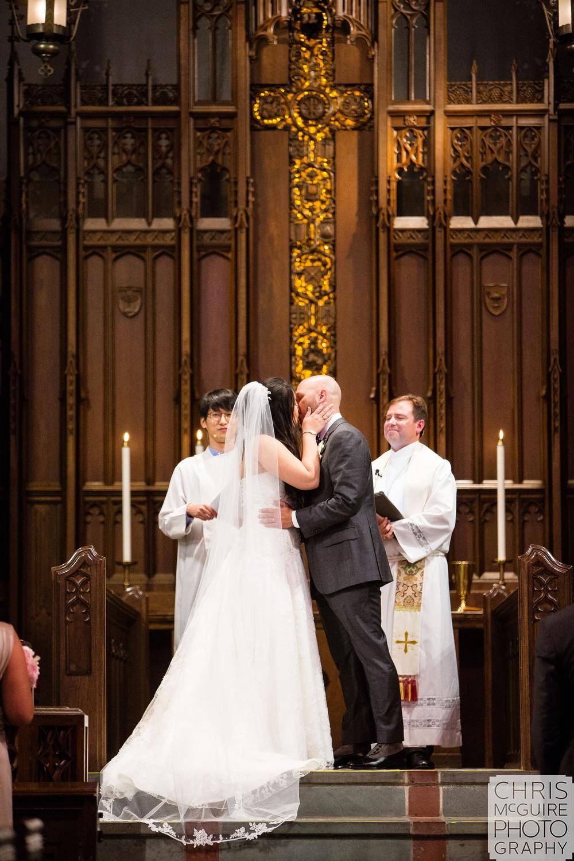 first kiss trinity united methodist wedding