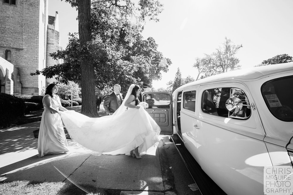 bride and 1939 packard