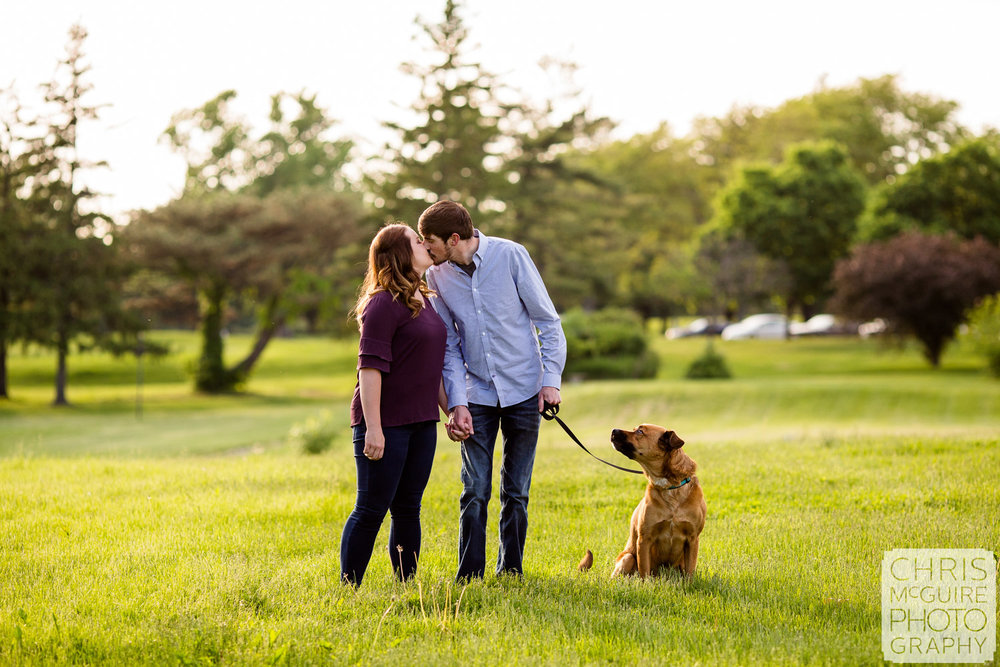 couple with dog in peoria il