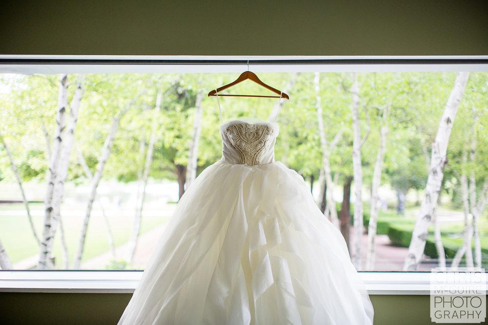 wedding dress at Chicago Botanic Gardens