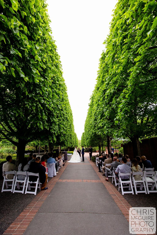 Chicago Botanic Gardens wedding ceremony