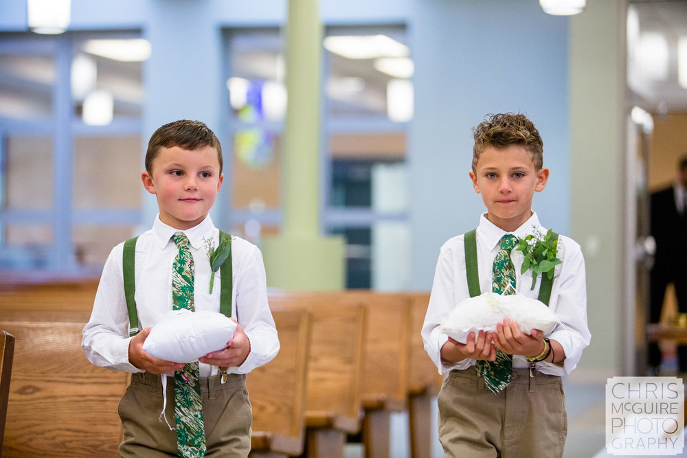 ring bearers at Blessed Sacrament in Morton