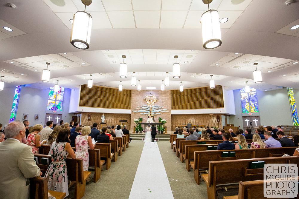 Blessed Sacrament Morton wedding