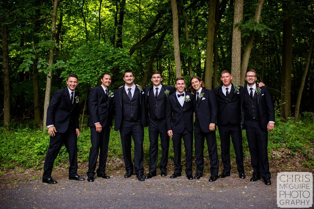 groomsmen outdoor portrait peoria il