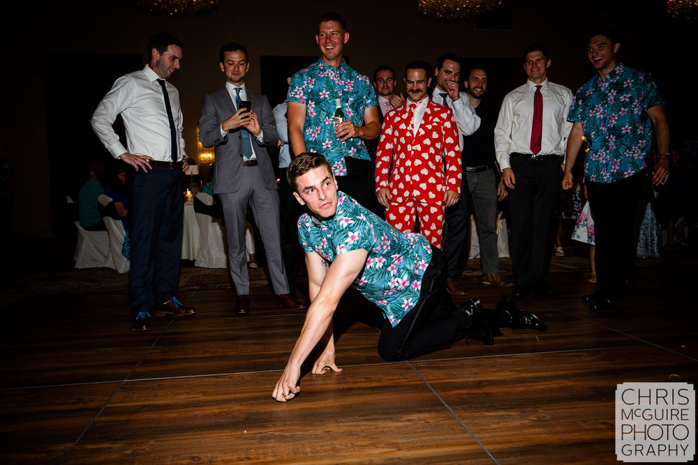 groom acts like ape before removing garter
