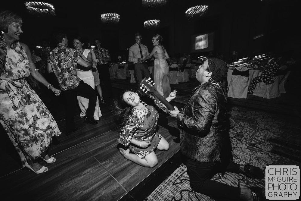 dancing at Pere Marquette ballroom wedding reception