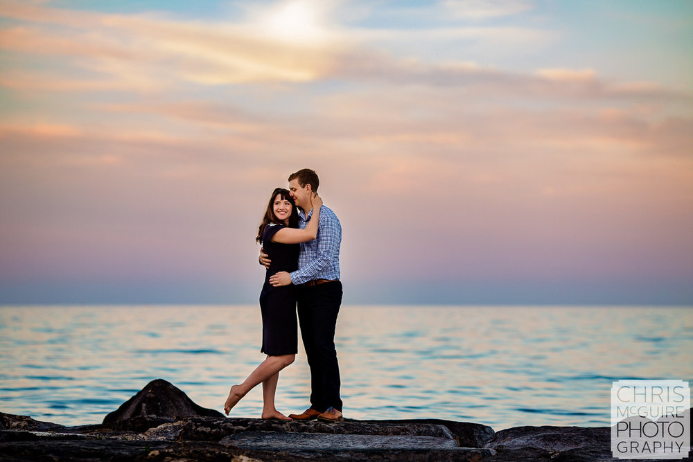 Promontory Point Chicago Engagement Session, Chris McGuire Photography