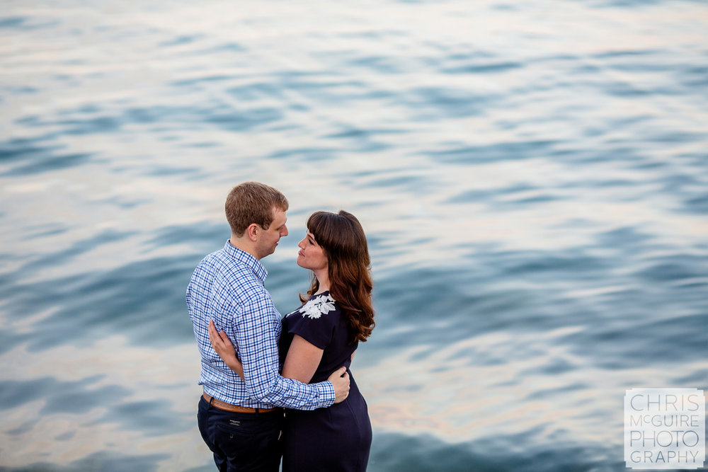 couple at lake michigan in Chicago