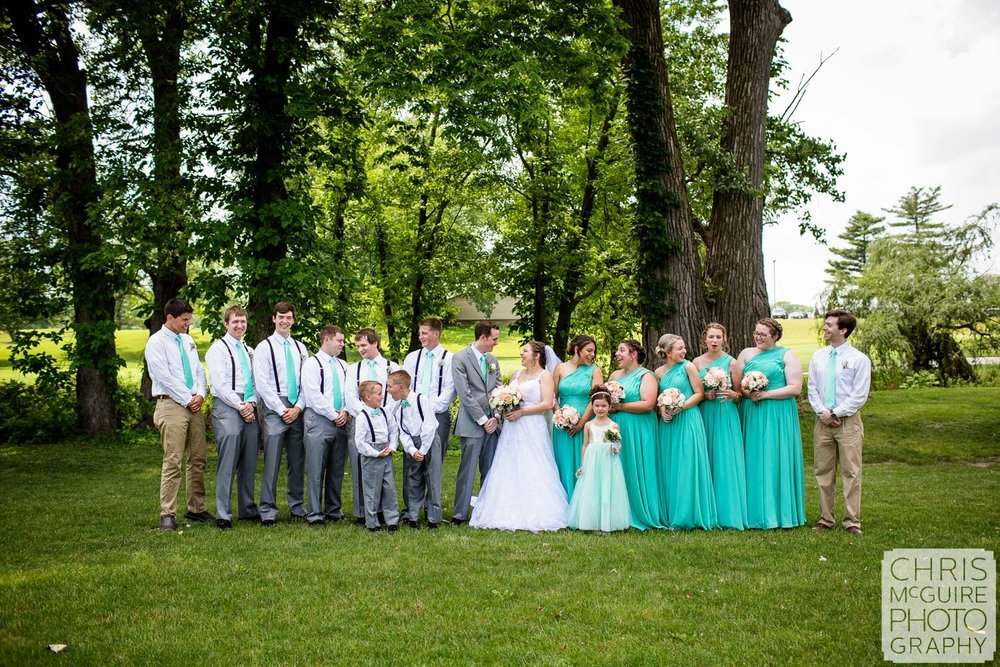 wedding party at Crestwicke Country Club