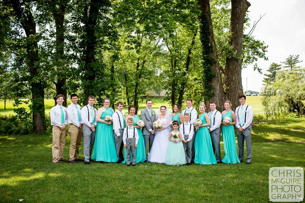 bloomington il wedding party portrait