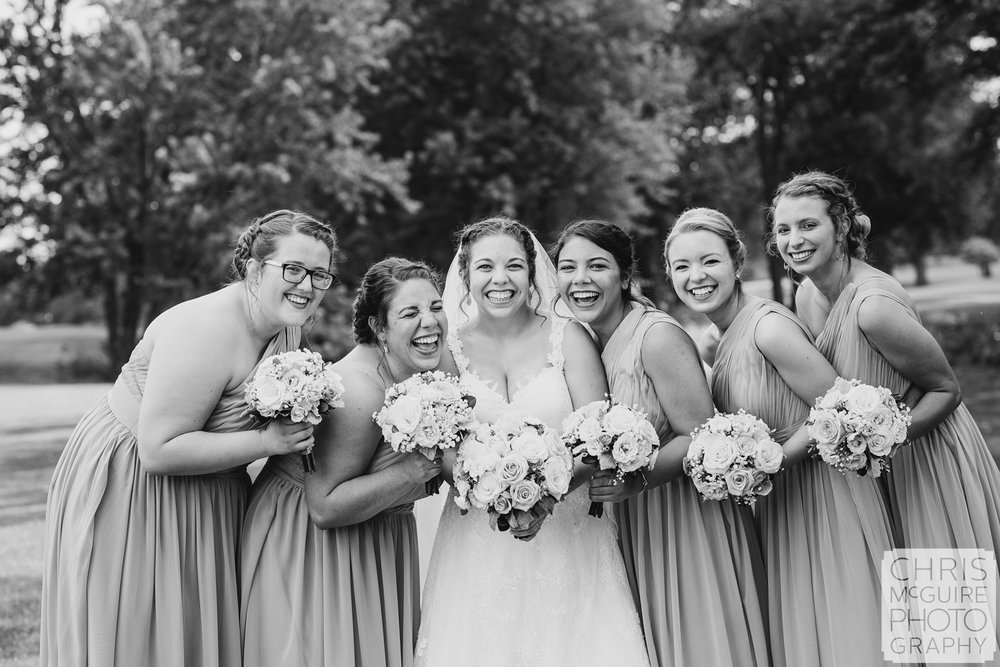 Bloominton IL bride laughing