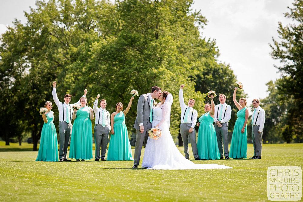 Blooomington IL wedding photographer Crestwicke Country Club