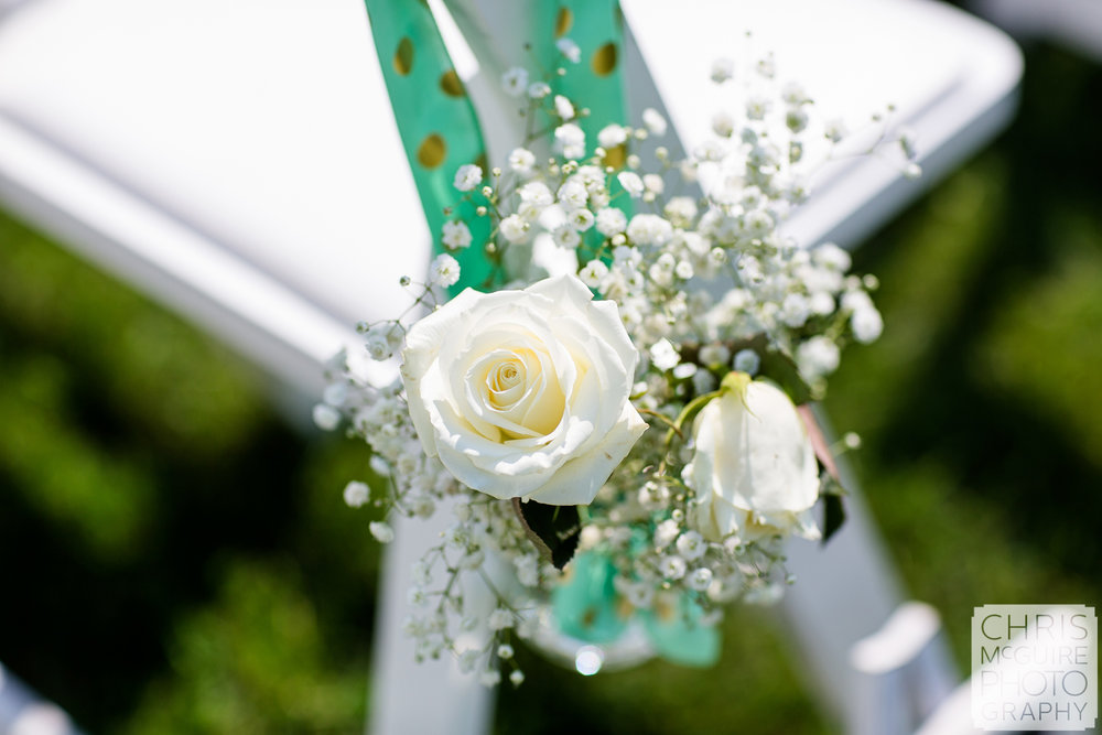 wedding ceremony white rose