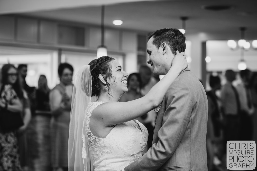 first dance at Bloomington IL wedding reception