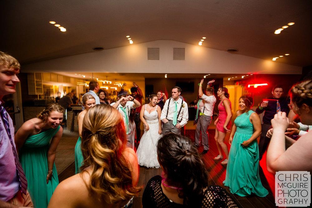 Crestwicke Country Club wedding reception dancefloor