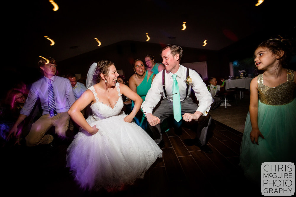 bride groom dance at bloominton il wedding