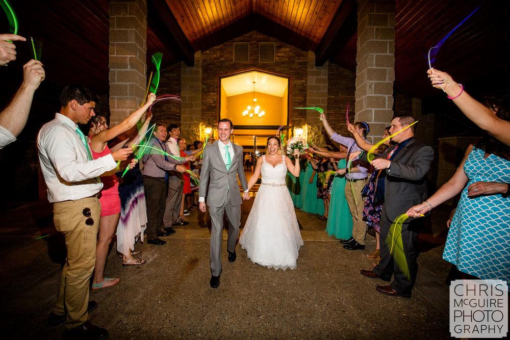Crestwicke Country Club bride groom leave wedding