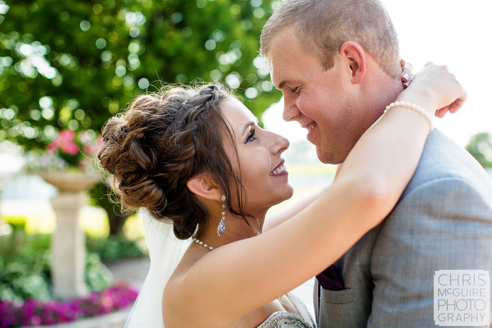 intimate portrait at Peoria IL wedding