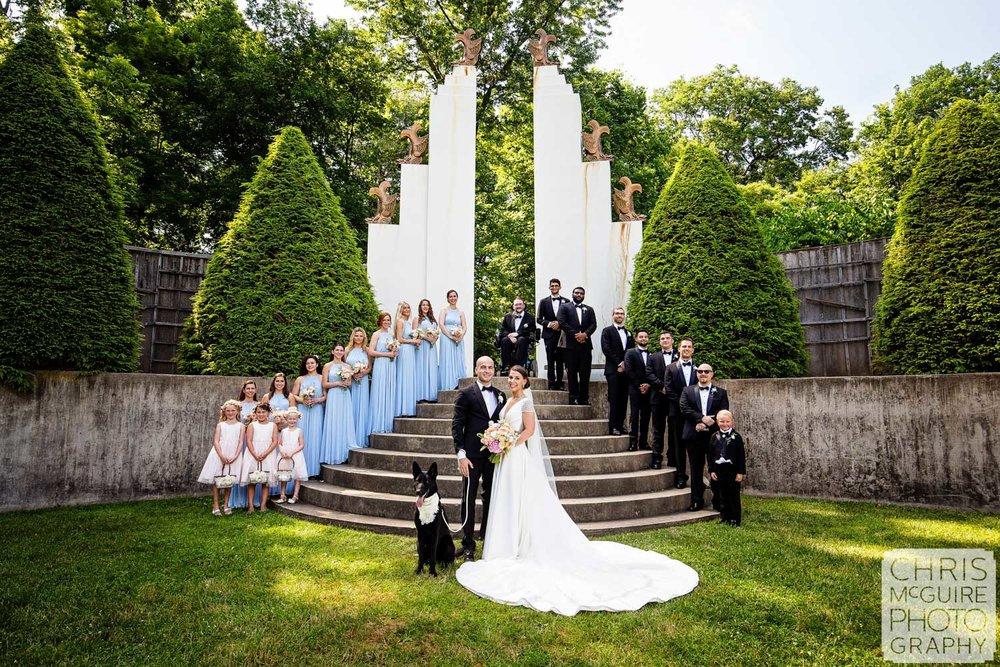 Allerton Park Sunken Garden Wedding