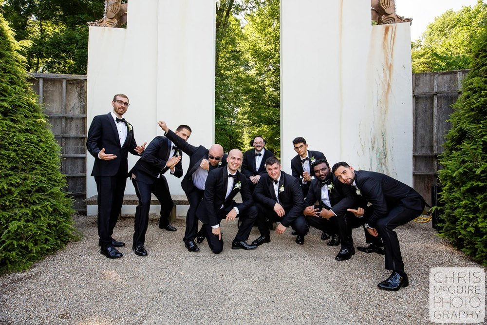 groomsmen at Allerton Park