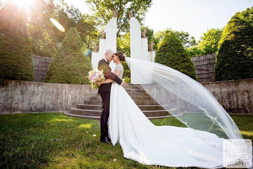 Sunken Garden Allerton Park Wedding