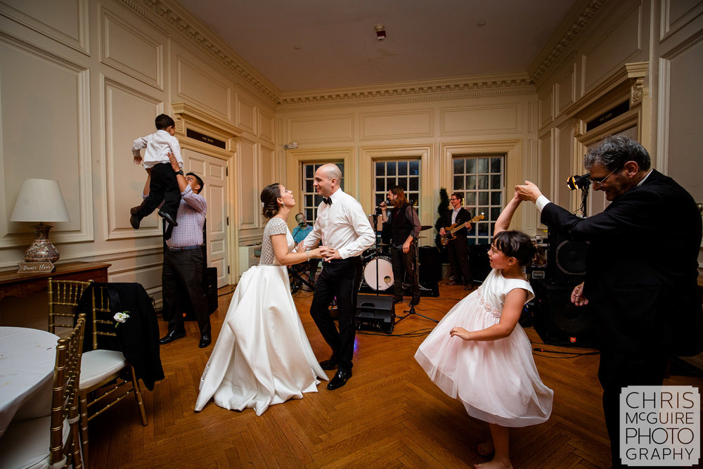 bride groom dance at Allerton Mansion wedding reception
