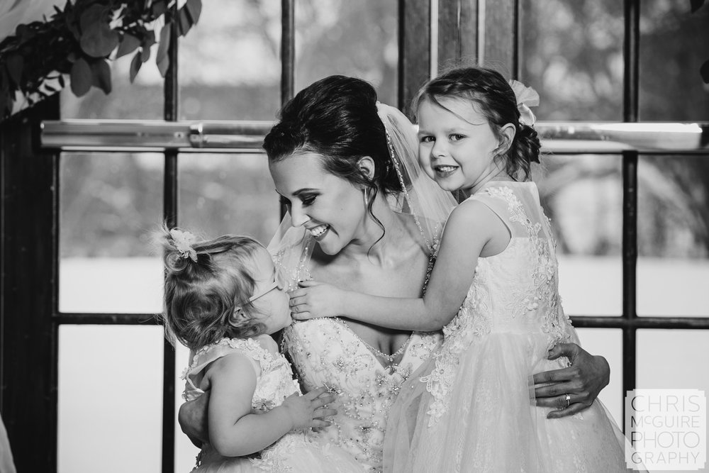 Bride and her daughters