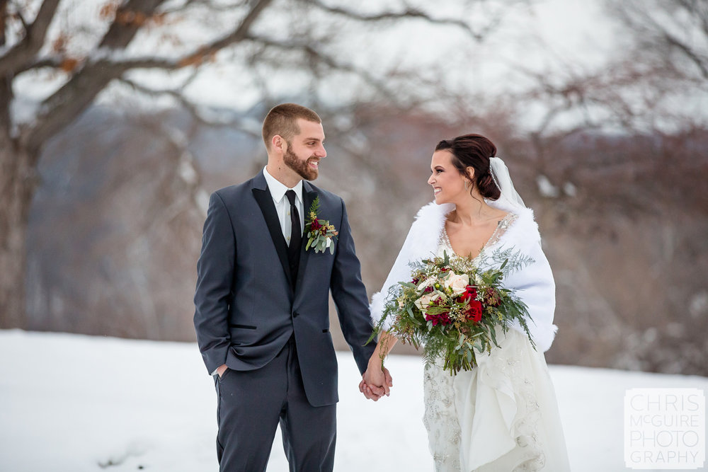 Central Illinois Winter Wedding
