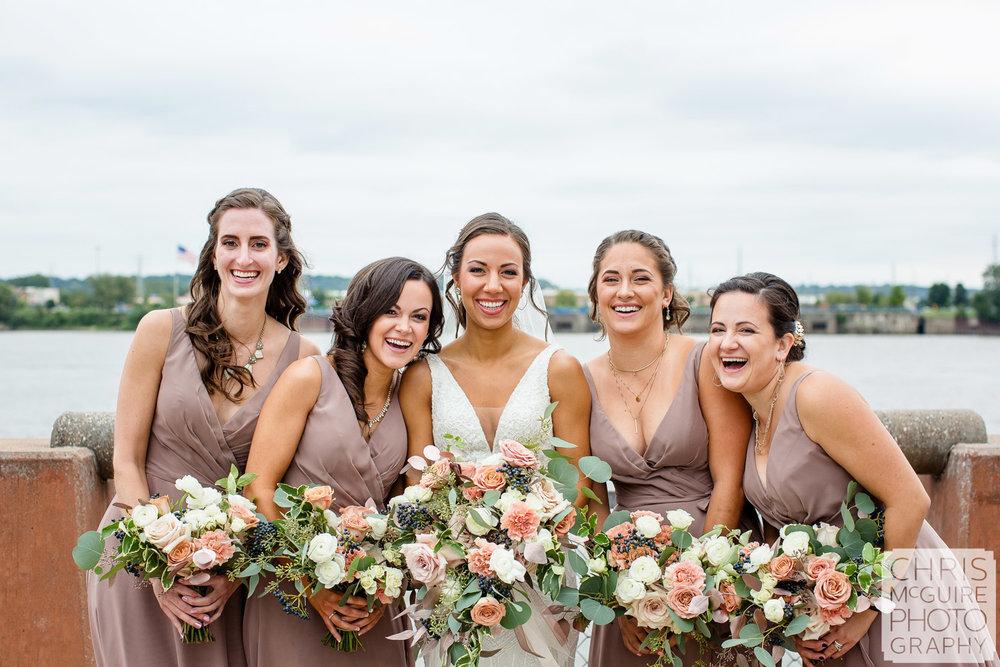 Bridesmaids at Peoria Riverfront