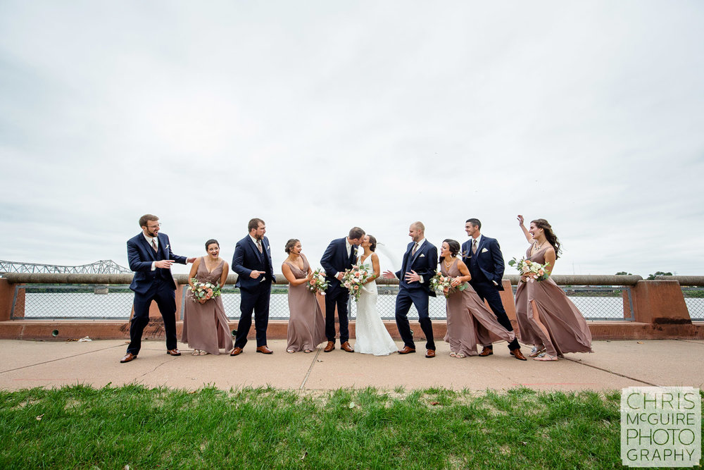 Wedding Party at Peoria Riverfront