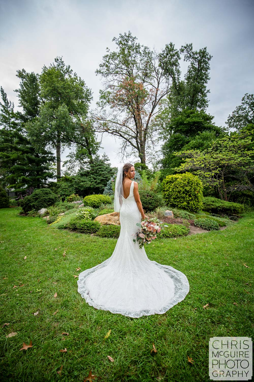 Wedding dress at Luthy Botanical Garden