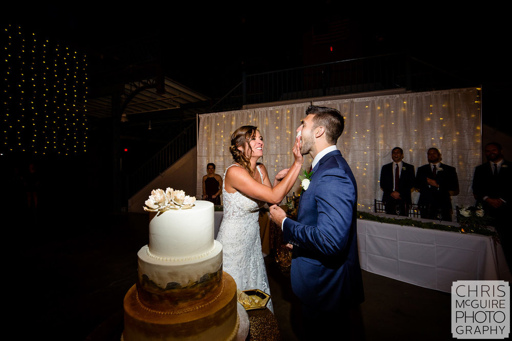Cake Smash at Illinois State Fairgrounds Wedding