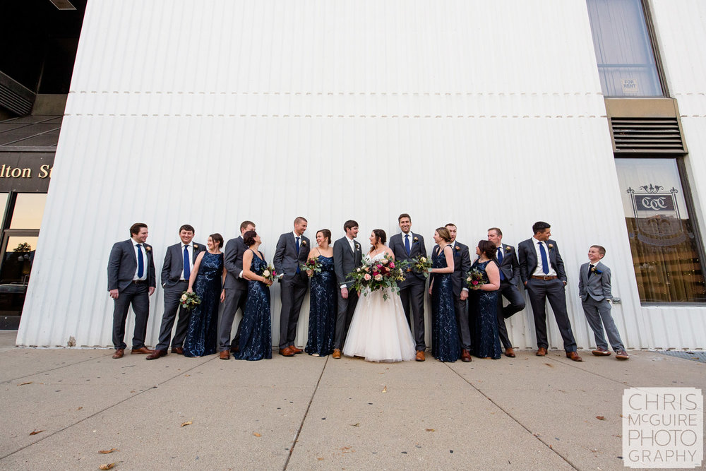 Wedding Party in Downtown Peoria IL