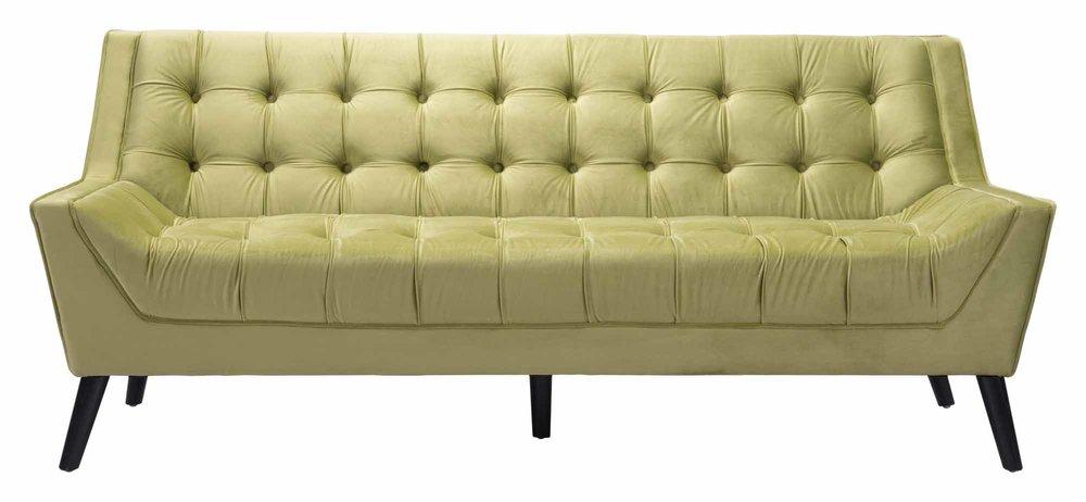Natasha Chartreuse Velvet Sofa