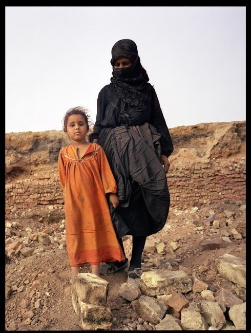 A woman and her daughter in southern Iraq, June, 2003.